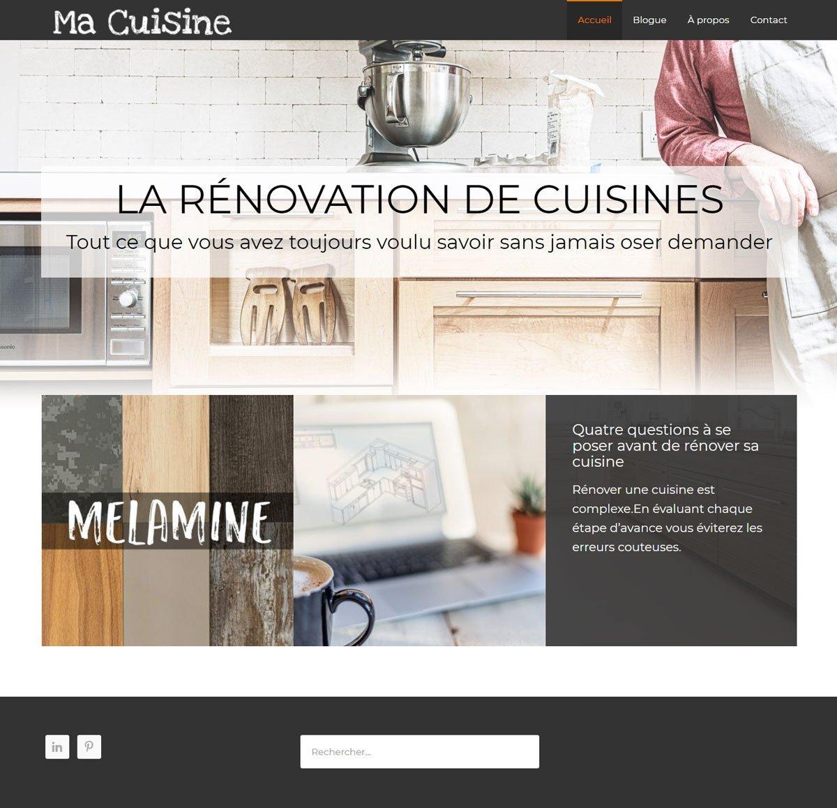 Ma Cuisine Blog Design