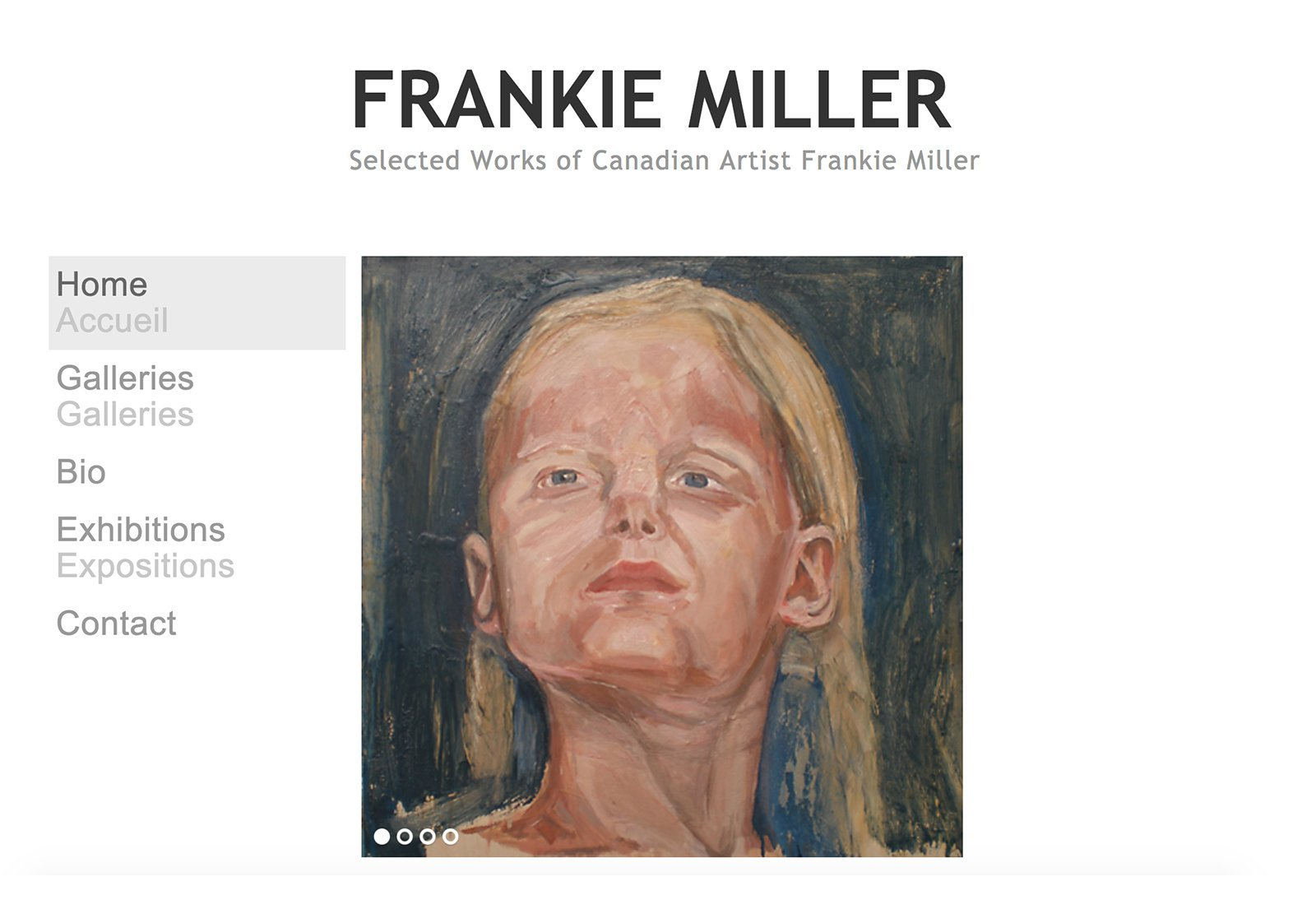 Frankie-Miller, Artist Portfolio Design
