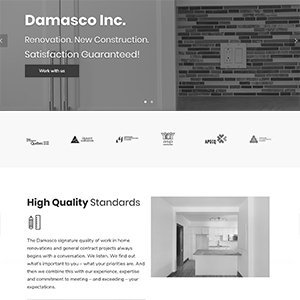Damasco Inc website redesign